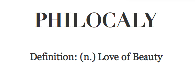 Definition Philocaly
