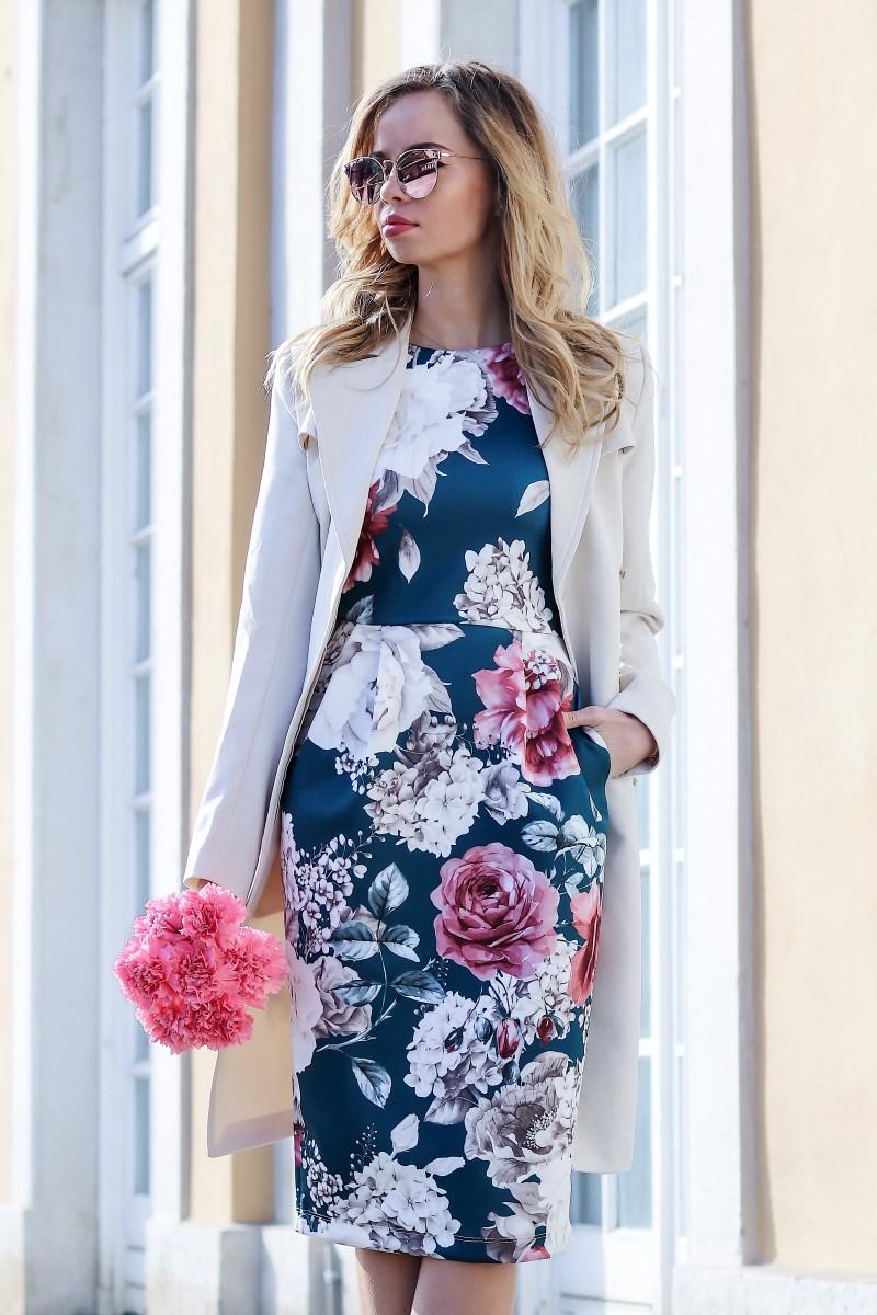 Outfit, Kleid, Blumen, Spring, Frühling