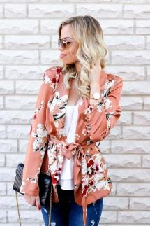 Spring into Summer - Floral Kimono Blazer-19