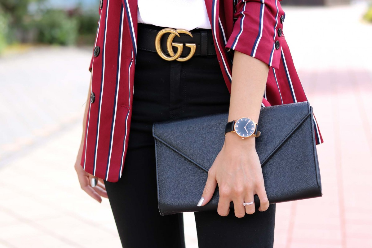 Effortlessly Chic, blazer, Gucci belt, Accessories, elegant, casual chic