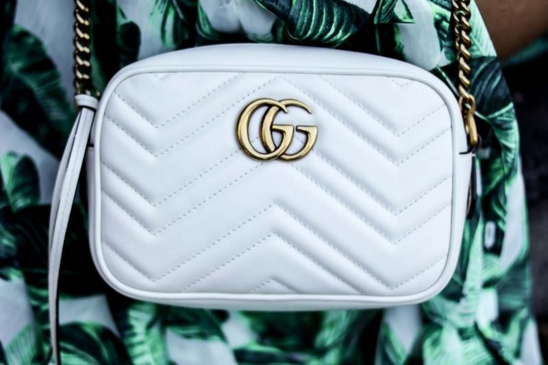 Gucci Marmont Mini Crossbody Bag white